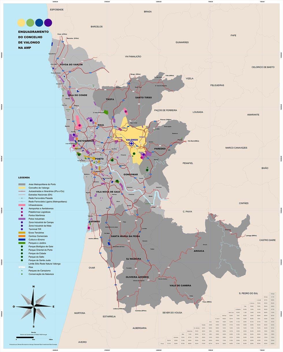 mapa de valongo porto O Território | CM Valongo mapa de valongo porto